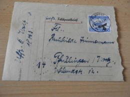 Luft-Feldpostbrief  General Kommando V.Armekorps 1944 - Documenti