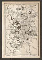 CARTE PLAN MAPA MAP 1935 SANTIAGO - ESPAGNE ESPANA SPAIN - Topographische Karten