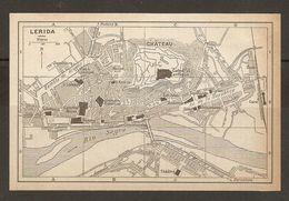CARTE PLAN MAPA MAP 1935 LERIDA - ESPAGNE ESPANA SPAIN - Topographische Karten