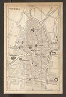 CARTE PLAN MAPA MAP 1935 VITORIA - ESPAGNE ESPANA SPAIN - Topographische Karten
