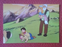 POSTAL POST CARD 1975 TARJETA Nº 14 HEIDI CLARA PEDRO EL VIEJO DE LOS ALPES Y NIEBLA TVE FHER ZUIYO JAPAN ANIME NIPPON.. - Cuentos, Fabulas Y Leyendas