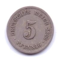 DEUTSCHES REICH 1896 F: 5 Pfennig, KM 11 - [ 2] 1871-1918 : Imperio Alemán