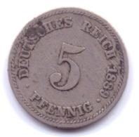 DEUTSCHES REICH 1889 E: 5 Pfennig, KM 11 - [ 2] 1871-1918 : Imperio Alemán