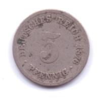 DEUTSCHES REICH 1876 B: 5 Pfennig, KM 3 - [ 2] 1871-1918 : Imperio Alemán