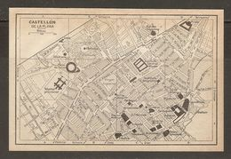 CARTE PLAN MAPA MAP 1935 CASTELLON De La PLANA - ESPAGNE ESPANA SPAIN - Topographische Karten