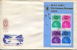 Malawi Mi# Block 1 Used On FDC - Christmas - Malawi (1964-...)