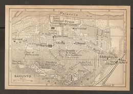 CARTE PLAN MAPA MAP 1935 SAGUNTO - ESPAGNE ESPANA SPAIN - Topographische Karten