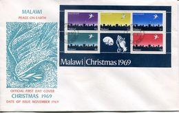 Malawi Mi# Block 16 Used On FDC - Christmas - Malawi (1964-...)