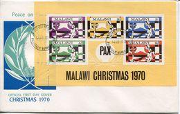 Malawi Mi# Block 20 Used On FDC - Christmas - Malawi (1964-...)