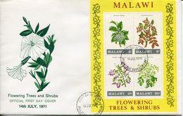 Malawi Mi# Block 24 Used On FDC - Flora - Malawi (1964-...)