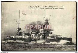 CPA Bateau Cuirasse De 1er Rang Suffren - Warships