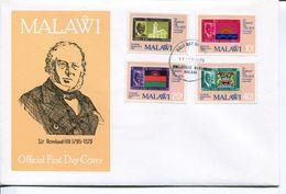 Malawi Mi# 332-5 Used On FDC - Stamp On Stamp - Malawi (1964-...)