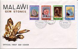 Malawi Mi# 348-51 Used On FDC - Gem Stones - Malawi (1964-...)