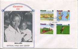 Malawi Mi# 352-5 Used On FDC - Flora + Fauna - Malawi (1964-...)