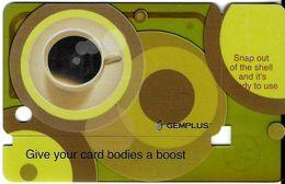 CARTE DE DÉMONSTRATION  GEMPLUS TRANSPARENTE  GIVE YOU CARD BBDIES A BOOST - Ausstellungskarten