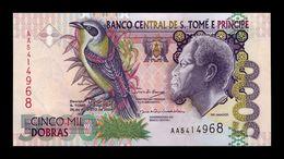 Santo Tome Y Principe St. Thomas & Prince 5000 Dobras 2004 Pick 65c 2 Security Threads SC UNC - São Tomé U. Príncipe