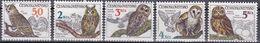Tr_ Tschechoslowakei 1986 - Mi.Nr. 2875 - 2879 - Postfrisch MNH - Tiere Animals Vögel Birds Eulen Owls - Eulenvögel