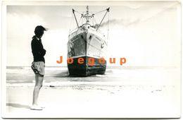 Photo Woman In Beach Brazilian Ship Bartolomeu Bueno - Bateaux