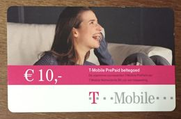 T MOBILE FEMME 10 EURO PAYS BAS NEDERLAND EXP LE 01/02/2005 RECHERGE GSM PRÉPAYÉE PREPAID PHONECARD - Pays-Bas