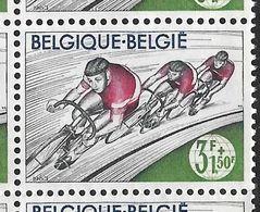 1257-V En Bloc De 9 Timbres - V épine Dans Le Dos (Alb. Noir N° 20) - Variétés Et Curiosités