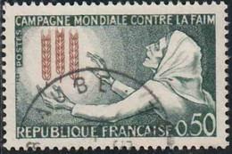 France 1963 Yv. N°1379 - Campagne Mondiale Contre La Faim - Oblitéré - Oblitérés
