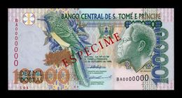 Santo Tome Y Principe Saint Thomas & Prince 10000 Dobras 1996 Pick 66a Specimen SC UNC - Sao Tomé Et Principe