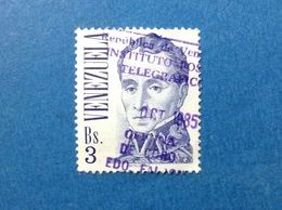 1976 VENEZUELA FRANCOBOLLO USATO STAMP USED BOLIVAR 3 BS - Venezuela