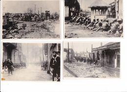 7 Photos Anciennes Chine Japon WW2 Guerre Sino-japonaise Armes Soldats Drapeau Japonais Armée Impériale - Guerra, Militares