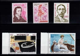 Monaco - YV 1344 à 1348 N** Complete , Artistes & Tableaux Cote 17,50 Euros - Monaco