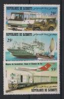 Djibouti - 1982 - N°Yv. 554 à 556 - Transport - Neuf Luxe ** / MNH / Postfrisch - Gibuti (1977-...)
