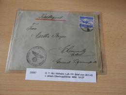 Luftpostbrief  O.T.Hb.I. I Wilhelm 1942 - Documenti