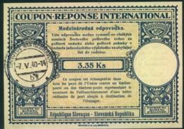 "1940, Reply Coupon Cancelled ""Bánovce Nad Bebravou§, Internationaler Antwortschein - Slovaquie"
