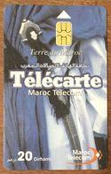 MAROC TELECOM TERRE DU MAROC TÉLÉCARTE 20 DIRHAMS PUCE N°2 PHONECARD CARD - Maroc
