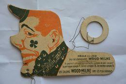 Bilboquet En Carton Publicitaire-Talons Tournants WOOD.MILNE-voir Scan-tres RARE - Pubblicitari