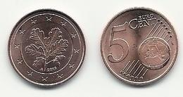 5 Cent, 2019, Prägestätte (A) Vz, Sehr Gut Erhaltene Umlaufmünze - Allemagne