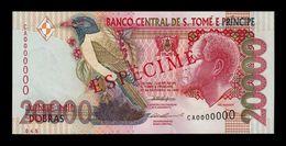 Santo Tome Y Principe Saint Thomas & Prince 20000 Dobras 1996 Pick 67b Specimen 2 Security Threads SC UNC - Sao Tomé Et Principe