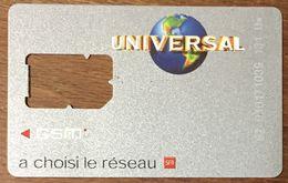 UNIVERSAL SFR CARTES SIM GSM SANS PUCE QUE LE SQUELETTE SANS PUCE PHONECARD TELECARTE CARD - Nachladekarten (Handy/SIM)
