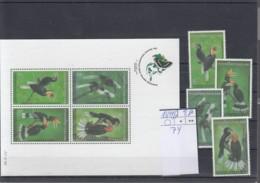 Thailand Michel Cat.No. Mnh/** 1694/1697   + Sheet 74 Birds - Thailand