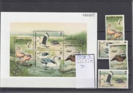 Thailand Michel Cat.No. Mnh/** 1738/1741   + Sheet  90 Birds - Thailand