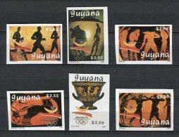 Barcelona 1992. Guyana 1989. Mi 3064-69 Imperforated ** MNH. - Summer 1992: Barcelona