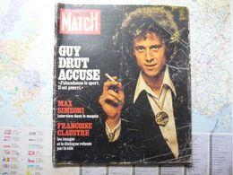 Paris Match N°1428  Octobre 1976 Guy Drut Accuse Le Sport Est Pourri / Tarzan Arrive à La Télé - Allgemeine Literatur