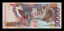 Santo Tome Y Principe Saint Thomas & Prince 50000 Dobras 1996 Pick 68b Specimen 2 Security Threads SC UNC - Sao Tomé Et Principe