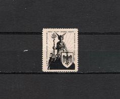 Deutsches Reich Nazi Swastika Poster Revenue Cinderella Vignette Propaganda Postfrisch - Cinderellas