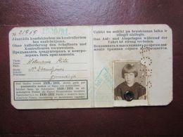 1930/31s Riga City Railway / TRAM Season Ticket  For  Student Girl  Latvia - Other