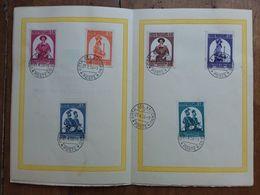 VATICANO - 4 Cartoncini Anni '50 Annullati 1° Giorno + Spese Postali - Used Stamps