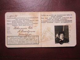 1931/32  Riga City Railway / TRAM Season Ticket  For  Student Girl  Latvia - Other