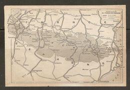 CARTE PLAN MAPA MAP 1935 ROUTES D'ACCES DE FRANCE EN ESPAGNE - RUTAS DE ACCESO DE FRANCIA A ESPAÑA ESPAGNE ESPANA SPAIN - Topographische Karten