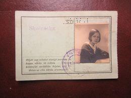 Latvia Railway Month Ticket  Riga - Lielupe To  Student  Y1936 - Ferrovie