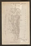 CARTE PLAN MAPA MAP 1935 GIBRALTAR TERRITOIRE NEUTRE - TERRITORIO NEUTRO GIBRALTAR - ESPAGNE ESPANA SPAIN - Topographische Karten