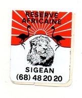 Autocollant Réserve Africaine Sigean- Format : 7x8.5 Cm - Adesivi